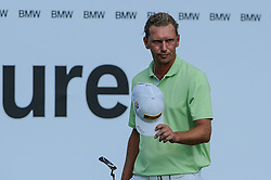 26.06.2015, Golfclub München Eichenried, Muenchen, GER, BMW International Golf Open, Tag 2, im Bild Marcel Siem (GER) // during Day two of the BMW International Golf Open at the Golfclub München Eichenried in Muenchen, Germany on 2015/06/26. EXPA Pictures © 2015, PhotoCredit: EXPA/ Eibner-Pressefoto/ Schreyer<br /> <br /> *****ATTENTION - OUT of GER*****