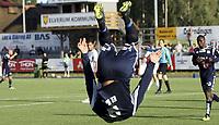 Fotball <br /> Adeccoligaen<br /> Elverum Stadion<br /> 04.08.13<br /> Elverum  v  Kristiansund<br /> Foto: Dagfinn Limoseth, Digitalsport<br /> Mahmoud El Haj , Kristiansund feire sin scoring