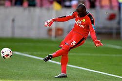 Denis Onyango of Mamelodi Sundowns during the 1st leg of the MTN8 Semi Final between Chippa United and Mamelodi Sundowns held at the Nelson Mandela Bay Stadium in Port Elizabeth, South Africa on the 11th September 2016<br /><br />Photo by: Richard Huggard / Real Time Images