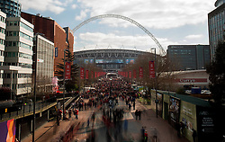 Fans walk down Wembley Way - Photo mandatory by-line: Dougie Allward/JMP - Mobile: 07966 386802 - 22/03/2015 - SPORT - Football - London - Wembley Stadium - Bristol City v Walsall - Johnstone Paint Trophy Final