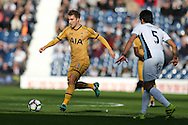Christian Eriksen of Tottenham Hotspur (l)  in action.Premier league match, West Bromwich Albion v Tottenham Hotspur at the Hawthorns stadium in West Bromwich, Midlands on Saturday 15th October 2016. pic by Andrew Orchard, Andrew Orchard sports photography.