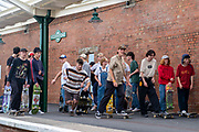 Skateboards from across the country gathered on Folkestone Harbour Arm on the 31st of August 2021 for an event called Pier Pressure, organised by Folkestone51, the new multi story indoor skate park in Folkestone, United Kingdom. Ramps, Jumps and street furniture was used to show off some skateboarding skills to the local community.