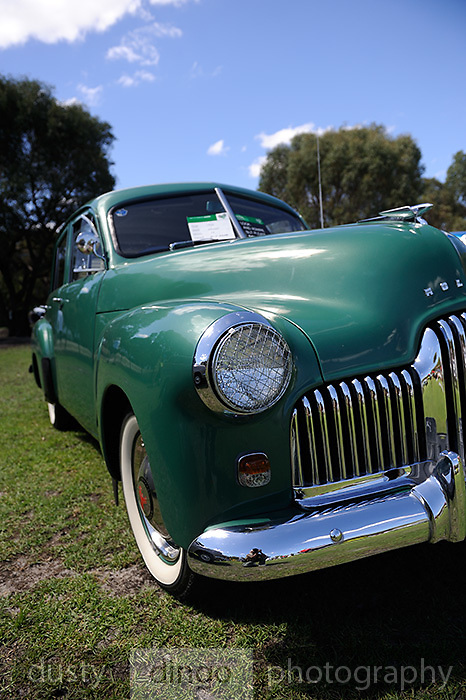 The first Holden: Holden 48/215 FX. <br /> 2011 Classic Car Show, Whiteman Park, Perth, Western Australia. March 20, 2011