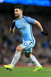 1st March 2017 - FA Cup - 5th Round (Replay) - Manchester City v Huddersfield Town - Sergio Aguero of Man City - Photo: Simon Stacpoole / Offside.