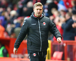 December 23, 2017 - London, United Kingdom - Charlton Athletic manager Karl Robinson .during Sky Bet  League One match between Charlton Athletic  against Blackpool at The Valley Stadium London on 23 Dec  2017  (Credit Image: © Kieran Galvin/NurPhoto via ZUMA Press)
