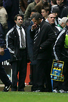 Photo: Andrew Unwin.<br />Newcastle United v Blackburn Rovers. The Barclays Premiership. 21/01/2006.<br />Newcastle's manager, Graeme Souness, ponders his side defeat.
