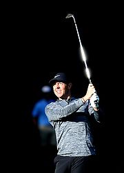 May 3, 2018 - Charlotte, North Carolina, U.S. - RORY MCILROY watches his second shot to the 12th green during he first round of the Wells Fargo Championship at Quail Hollow Club in Charlotte. (Credit Image: © Jeff Siner/TNS via ZUMA Wire)