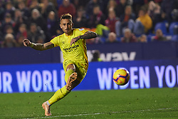 January 4, 2019 - Valencia, Spain - ALEIX GARCIA of Girona scores a goal during the La Liga match between Levante and Girona at Ciutat de Valencia Stadium. (Credit Image: © AFP7 via ZUMA Wire)