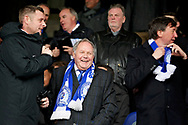 Peterborough Utd owner Darragh MacAnthony, Director of Football Barry Fry and co- owner Jason Neale before sacking Peterborough Utd manager Steve Evans after the EFL Sky Bet League 1 match between Peterborough United and Charlton Athletic at London Road, Peterborough, England on 26 January 2019.