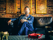 Jeff Mouttet, owner of Match Cigar Bar, poses for a portrait.