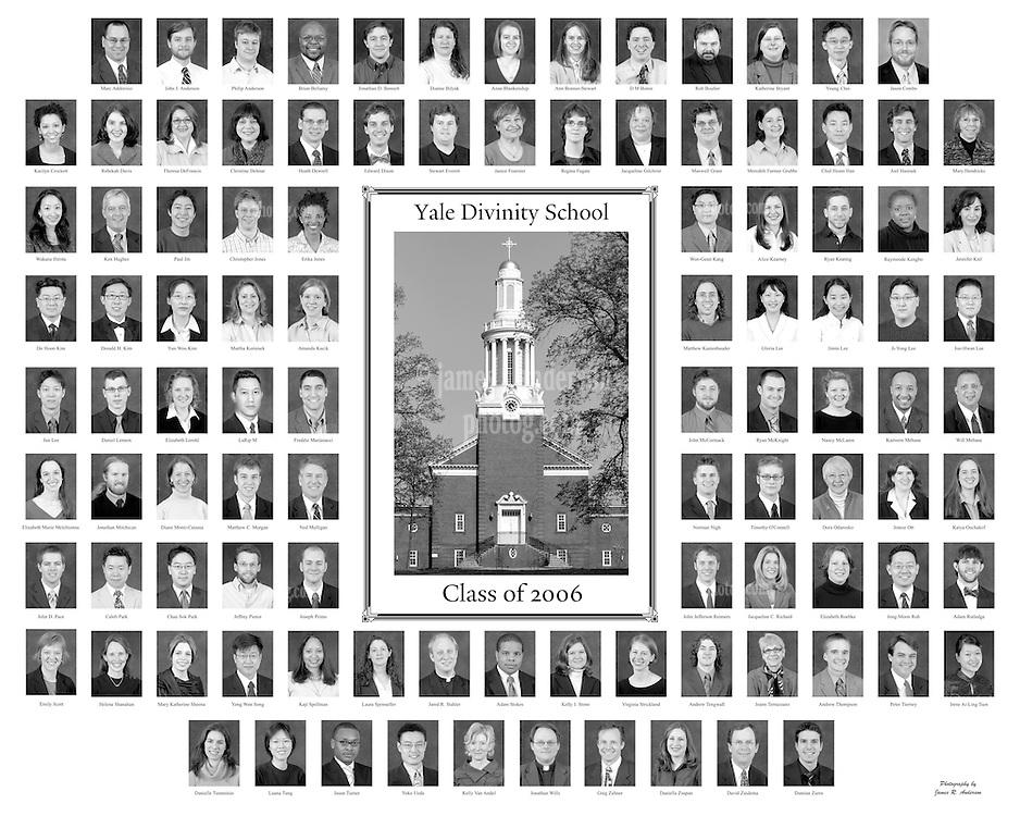 2006 Yale Divinity School Senior Portraits Composite Photograph