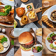 A selection of pub food from the menu at the Bramley Inn