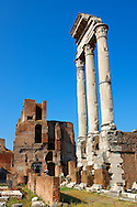Columns in the Forum Rome .<br /> <br /> Visit our ITALY HISTORIC PLACES PHOTO COLLECTION for more   photos of Italy to download or buy as prints https://funkystock.photoshelter.com/gallery-collection/2b-Pictures-Images-of-Italy-Photos-of-Italian-Historic-Landmark-Sites/C0000qxA2zGFjd_k<br /> .<br /> <br /> Visit our ROMAN ART & HISTORIC SITES PHOTO COLLECTIONS for more photos to download or buy as wall art prints https://funkystock.photoshelter.com/gallery-collection/The-Romans-Art-Artefacts-Antiquities-Historic-Sites-Pictures-Images/C0000r2uLJJo9_s0