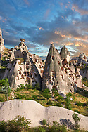 Pictures & images of Uchisar Castle the cave city houses in the fairy chimney of Uchisar, near Goreme, Cappadocia, Nevsehir, Turkey