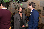 MAT COLLISHAW; PAUL FRYER, Dinner to celebrate the opening of Pace London at  members club 6 Burlington Gdns. The dinner followed the Private View of the exhibition Rothko/Sugimoto: Dark Paintings and Seascapes.