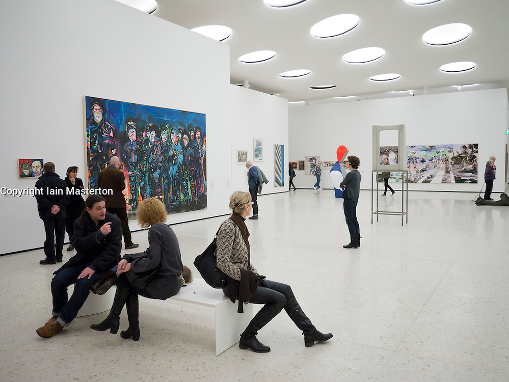 Interior of  new contemporary  art museum or GEGENWARTSKUNST at Stadel museum in Frankfurt Germany