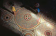 ITALY, VENICE Basilica San Marco (St. Mark's Cathedral) built in 1063-73 with 12thc. beautiful inlaid mosaic floor patterns