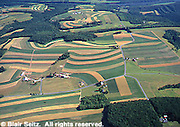 Northeast PA farmlands, Lehigh Co., Aerial