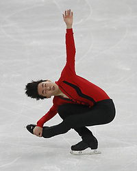 February 17, 2018 - Pyeongchang, South Korea - Vincent Zhou of the United States competes in the men's figure skating free skate program during the Pyeongchang 2018 Olympic Winter Games at Gangneung Ice Arena. (Credit Image: © David McIntyre via ZUMA Wire)