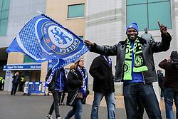 Chelsea fans wave the flag outside Stamford Bridge prior to kick off - Mandatory by-line: Jason Brown/JMP - 31/12/2016 - FOOTBALL - Stamford Bridge - London, England - Chelsea v Stoke City - Premier League