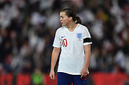 Francesca Kirby (10) of England during the FIFA Women's World Cup UEFA Qualifier match between England Ladies and Wales Women at the St Mary's Stadium, Southampton, England on 6 April 2018. Picture by Graham Hunt.