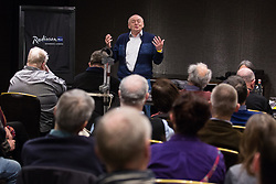 London, UK. 2nd March, 2019. Tamás Krausz, well-known Hungarian radical intellectual and editor of Marxist journal Eszmélet, addresses a workshop titled 'Anti-Semitism: Re-emergence and How It's Being Fought' at the ¡No Pasaran! Confronting the Rise of the Far-Right conference at the Radisson Bloomsbury Street Hotel.