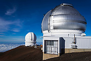 Observatories on the summit on Mauna Kea, The Big Island, Hawaii USA