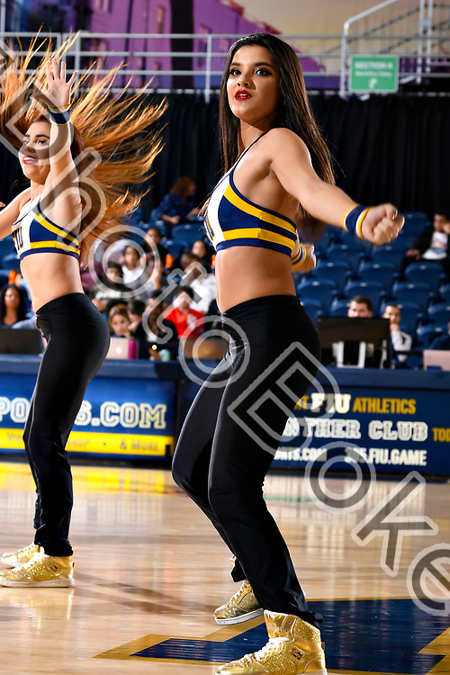 2019 January 31 - Florida International University Golden Dazzlers performing at the Ocean Bank Convocation Center, Miami, Florida. (Photo by: Alex J. Hernandez / photobokeh.com) This image is copyright by PhotoBokeh.com and may not be reproduced or retransmitted without express written consent of PhotoBokeh.com. ©2019 PhotoBokeh.com - All Rights Reserved