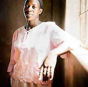 NAIROBI, KENYA – MARCH 11, 2010: Portrait of an African woman who is HIV positive.