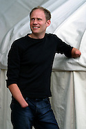 Inspirational young Scotsman, Jamie Andrew, who lost limbs in an alpine mountaineering accident, pictured at the Edinburgh International Book Festival, where he he read from his book 'Life and Limb' which retells the tragedy. The book festival was a part of the Edinburgh International Festival, the largest annual arts festival in the world.