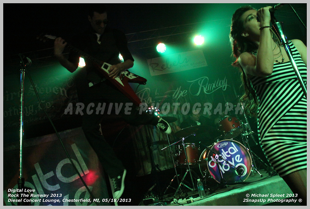 MT. CLEMENS, MI, SATURDAY, MAY 18, 2013: Digital Love, Rock The Runway 2013, at Diesel Concert Lounge, Mt. Clemens, MI, 05/18/2013.  (Image Credit: Michael Spleet / 2SnapsUp Photography)