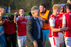 Broxburn Athletic manager Brian McNaughton and players cele at the end. Broxburn Athletic FC 3 v 0 Cowdenbeath, William Hill Scottish Cup 2nd Round replay played 26/10/2019 at Albyn Park, Greendykes Road, Broxburn.