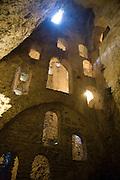 Rooms excavated in rock at mine of Moorish King, Casa del Roy Moro, Ronda, Spain