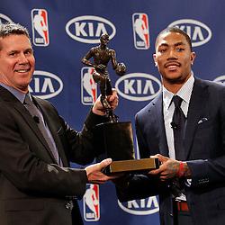 20110503: USA, Basketball - NBA, Derrick Rose named MVP