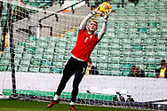 Barnsley goalkeeper Adam Davis (1) warming up ahead of the EFL Sky Bet Championship match between Norwich City and Barnsley at Carrow Road, Norwich, England on 18 November 2017. Photo by Phil Chaplin.