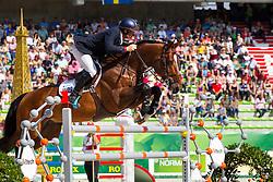 Jamie Kermond, (AUS), Quite Cassini, World Champions, - Second Round Team Competition - Alltech FEI World Equestrian Games™ 2014 - Normandy, France.<br /> © Hippo Foto Team - Leanjo De Koster<br /> 25/06/14