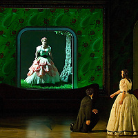 Picture shows : Kate Valentine as Karolina and Jane Irwin (in window) as Ane?ka. David Pomeroy as Ladislav Podhajsky...Picture  ©  Drew Farrell Tel : 07721 ?735041.THE TWO WIDOWS by  Smetana.A SCOTTISH OPERA AND EDINBURGH INTERNATIONAL FESTIVAL CO-PRODUCTION.Premiering at the Edinburgh International Festival, this brand new production stars Scottish soprano Kate Valentine and internationally renowned mezzo Jane Irwin..The directorial partnership between Tobias Hoheisel and Imogen Kogge transforms this delicate comedy into something that digs deeper without losing its inherent charm. Francesco Corti conducts this, his first production as Music Director of Scottish Opera...Kate Valentine as Karolina Záleská.Jane Irwin as Ane?ka Miletinská?Nicholas Folwell as Mumlal?David Pomeroy as Ladislav Podhajsky?Ben Johnson as Toník, a peasant?Rebecca Ryan as Lidka, a maid.?Conductor..Francesco Corti.Directors ..         Tobias Hoheisel & Imogen Kogge.Designer..         Tobias Hoheisel.Lighting..         Peter Mumford.Choreographer  .Kally Lloyd-Jones.Dramaturg..Micaela von Marcard..Performances :.Edinburgh Festival Theatre?9 ? 11 ? 12  August?Theatre Royal, Glasgow?10 ?  14 ? 17 ? October?Note to Editors:  This image is free to be used editorially in the promotion of Scottish Opera and The Edinburgh International Festival. Without prejudice ALL other licences without prior consent will be deemed a breach of copyright under the 1988. Copyright Design and Patents Act  and will be subject to payment or legal action, where appropriate..Further further information please contact Kerryn Hurley Scottish Opera Press Manager t:   0141 242 0511. Or contact The Edinburgh International Festival Press Office  +44 (0)131 473 2020.