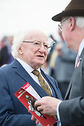 29/07/2017  The President Micheal D Higgins with Race Course chairman Peter Allen on Plate day of the Galway Races.   Photo:Andrew Downes, xposure