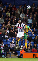 Photo: Mark Stephenson.<br /> West Bromwich Albion v Norwich City. Coca Cola Championship. 27/10/2007.West Brom's Ishmael Miller wins the ball from Norwich's Ian Murray