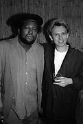 Robbie Shakespear with Andy Summers at the Island 25 party - London 1987
