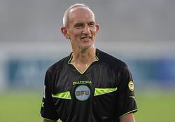 Dommer Russel Jones under træningskampen mellem FC Helsingør og Næstved Boldklub den 19. august 2020 på Helsingør Stadion (Foto: Claus Birch).