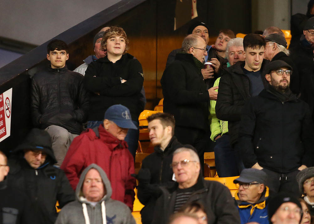 Bolton Wanderers fans enjoy the atmosphere inside Carrow Road<br /> <br /> Photographer David Shipman/CameraSport<br /> <br /> The EFL Sky Bet Championship - Norwich City v Bolton Wanderers - Saturday 8th December 2018 - Carrow Road - Norwich<br /> <br /> World Copyright © 2018 CameraSport. All rights reserved. 43 Linden Ave. Countesthorpe. Leicester. England. LE8 5PG - Tel: +44 (0) 116 277 4147 - admin@camerasport.com - www.camerasport.com