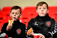 Fleetwood Town fans enjoy a pre-match hot-dog<br /> <br /> Photographer Richard Martin-Roberts/CameraSport<br /> <br /> The EFL Sky Bet League One - Bolton Wanderers v Fleetwood Town - Saturday 2nd November 2019 - University of Bolton Stadium - Bolton<br /> <br /> World Copyright © 2019 CameraSport. All rights reserved. 43 Linden Ave. Countesthorpe. Leicester. England. LE8 5PG - Tel: +44 (0) 116 277 4147 - admin@camerasport.com - www.camerasport.com