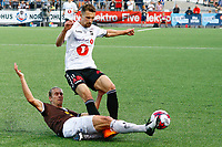 Fotball , 14. juli 2019 , Eliteserien<br /> Mjøndalen - Odd<br /> Quint Jansen, Mjøndalen<br /> Elba Rashani, Odd<br /> Foto: Christoffer Hansen , Digitalsport