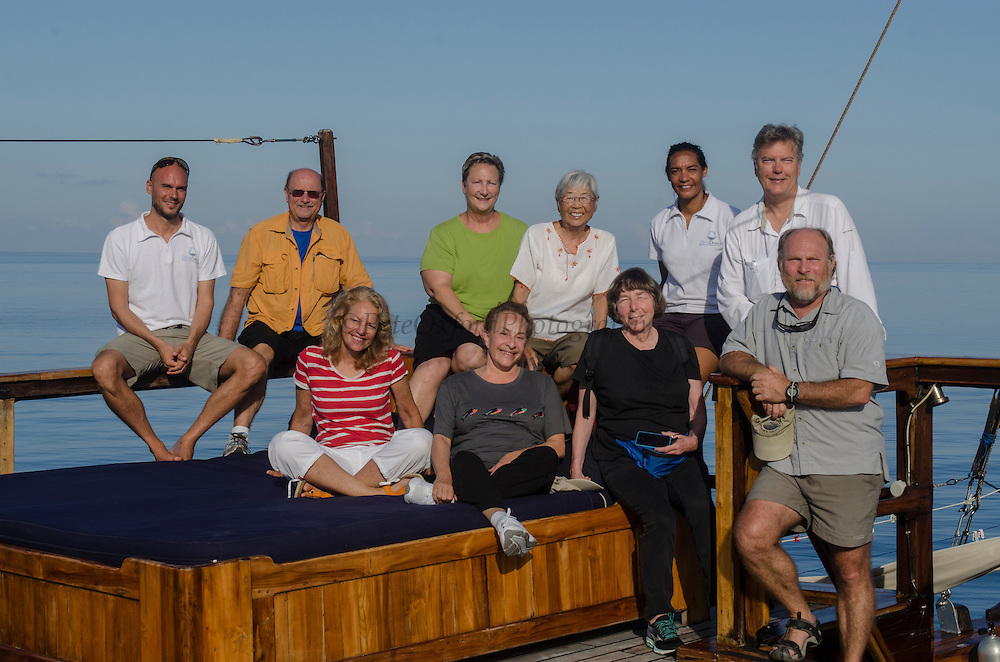 Group Photo<br /> Damai 2<br /> Dive vessel<br /> Cenderawasih Bay<br /> West Papua<br /> Indonesia
