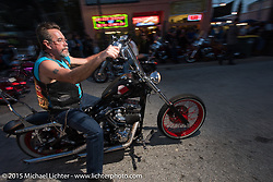 Main Street during Daytona Beach Bike Week 2015. FL, USA. March 12, 2015.  Photography ©2015 Michael Lichter.