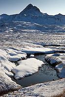 Lækur við Hvalvatn. Háasúla í Botnssúlum í baksýn.
