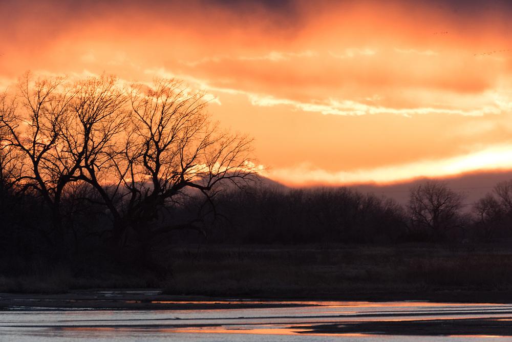 Sunset over the Platte River, Nebraska