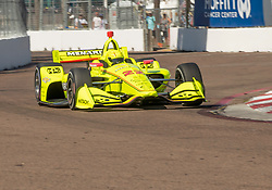 March 9, 2019 - St. Petersburg, FL, U.S. - ST. PETERSBURG, FL - MARCH 09: Team Penske driver Simon Pagenaud (22) of France during the NTT IndyCar Series - Firestone Grand Prix Qualifying on March 9 in St. Petersburg, FL. (Photo by Andrew Bershaw/Icon Sportswire) (Credit Image: © Andrew Bershaw/Icon SMI via ZUMA Press)