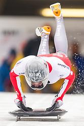 19.02.2016, Olympiaeisbahn Igls, Innsbruck, AUT, FIBT WM, Bob und Skeleton, Damen, Skeleton, 1. Lauf, im Bild Marina Gilardoni (SUI) // Marina Gilardoni of Switzerland competes during women Skeleton 1st run of FIBT Bobsleigh and Skeleton World Championships at the Olympiaeisbahn Igls in Innsbruck, Austria on 2016/02/19. EXPA Pictures © 2016, PhotoCredit: EXPA/ Johann Groder